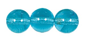 Druk Smooth Round Beads #4150 10mm Aqua (300 Pieces) (LOOSE) - CLEARANCE