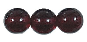Druk Smooth Round Beads #4150 10mm Garnet (300 Pieces) (LOOSE) - CLEARANCE