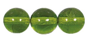 Druk Smooth Round Beads #4150 8mm Olivine (600 Pieces) (LOOSE) - CLEARANCE