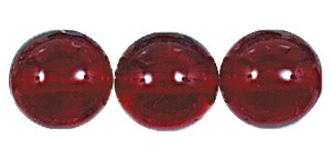 Druk Smooth Round Beads #4150 10mm Ruby (300 Pieces) (LOOSE) - CLEARANCE