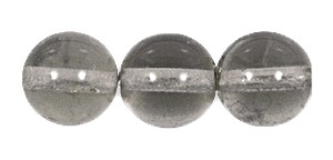 Druk Smooth Round Beads #4150 10mm Smoke Grey (300 Pieces) (LOOSE) - CLEARANCE