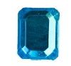 Glass Jewel #5107 Rectangle 10x8mm Aqua (288 Pieces)