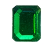 Glass Jewel #5107 Rectangle 10x8mm Kelly Green (288 Pieces)