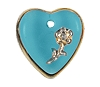 Heart Pendants #9001 Aqua 16mm (12 Pieces) - CLEARANCE