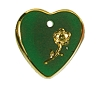 Heart Pendants #9001 Emerald 16mm (12 Pieces) - CLEARANCE