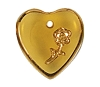 Heart Pendants #9001 Topaz 16mm (12 Pieces)  - CLEARANCE