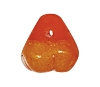 Glass Pear Pendant #9003 Orange 10mm (300 Pieces) - CLEARANCE