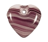 Quartz Heart Pendants #9026 Amethyst Quartz 18mm (12 Pieces) - CLEARANCE