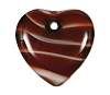 Quartz Heart Pendants #9026 Red Quartz 18mm (12 Pieces) - CLEARANCE