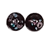 Handmade Round Glass Bead #7615 Black 10mm (12 Pieces)