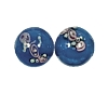 Handmade Round Glass Bead #7615 Blue 10mm (12 Pieces)