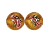 Handmade Round Glass Bead #7615 Brown 10mm (12 Pieces)