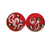 Handmade Round Glass Bead #7615 Red 10mm (12 Pieces)