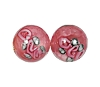 Handmade Round Glass Bead #7615 Rose 10mm (12 Pieces)