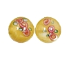 Handmade Round Glass Bead #7615 Yellow 10mm (12 Pieces)