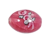 Handmade Oval Glass Bead #7616 Rose 14x10mm (12 Pieces)
