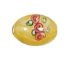Handmade Oval Glass Bead #7616 Yellow 14x10mm (12 Pieces)