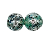 Handmade Round Glass Bead #7624 Green 8mm (12 Pieces)