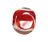 Handmade Coin Glass Bead #7628 Red 10mm (12 Pieces)