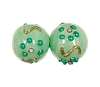 Handmade Round Glass Bead #7634 Green 6mm (36 Pieces)