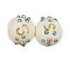 Handmade Round Glass Bead #7634 Ivory 6mm (36 Pieces)