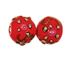 Handmade Round Glass Bead #7634 Red 6mm (36 Pieces)