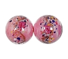 Handmade Round Glass Bead #7637 Pink 12mm (12 Pieces)