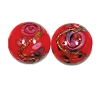 Handmade Round Glass Bead #7637 Red 12mm (12 Pieces)