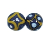 Handmade Round Glass Bead #7638 Blue 10mm (12 Pieces)