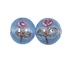 Handmade Round Glass Bead #7640 Light Blue 8mm (12 Pieces)