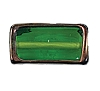 Handmade Rectangle Bead #7641 Emerald 20x10x6mm (12 Pieces)