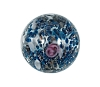 Handmade Round Glass Bead #7654 Blue 12mm (12 Pieces)