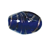 Handmade Oval Glass Bead #7676 Dark Sapphire 14x10mm (12 Pieces)