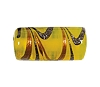 Handmade Tube Glass Bead #7678 Yellow 16x6mm (12 Pieces)