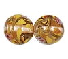 Handmade Round Glass Bead #7688 Topaz 12mm (12 Pieces)