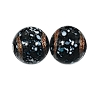 Handmade Round Glass Bead #7695 Black 8mm (12 Pieces)