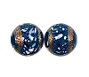 Handmade Round Glass Bead #7695 Dark Blue 8mm (12 Pieces)