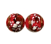 Handmade Round Glass Bead #7695 Red 8mm (12 Pieces)
