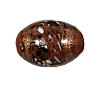 Handmade Oval Glass Bead #7696 Brown 12x8mm (12 Pieces)