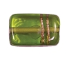 Handmade Rectangle Bead #7715 Olivine 17x12mm (12 Pieces)