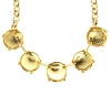 Necklace Setting #7807 Gold for 1122 12mm Stones (10 Pieces)