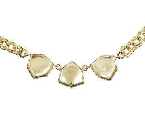 Necklace Setting #7902 Gold for 4706 17mm Stones (2 Pieces)