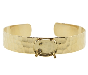Cuff Bracelet Setting #7931 Gold for 4120 18x13mm Stones (2 Pieces)