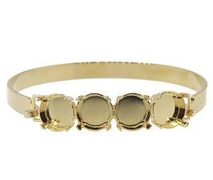 Bangle Bracelet Setting #7937 Gold for 1122 SS47 Stones (2 Pieces)