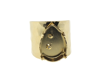 Ring Setting #7962 Gold for 4320 18x13mm Stones (3 Pieces)