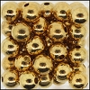 Brass Beads #304 6mm Gold (144 Pieces)