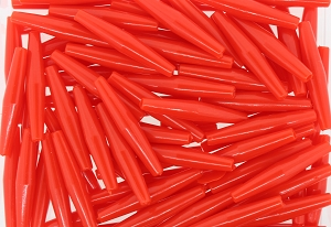 Plastic Hairpipe Beads #4071 2
