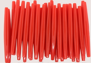 Plastic Hairpipe Beads #4071 4