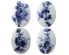 Porcelain Paintings #1010 18x13mm 8 Scenes (12 Pieces) - CLEARANCE