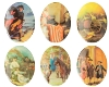 Porcelain Paintings #1776 40x30mm 6 Scenes (12 Pieces) - CLEARANCE